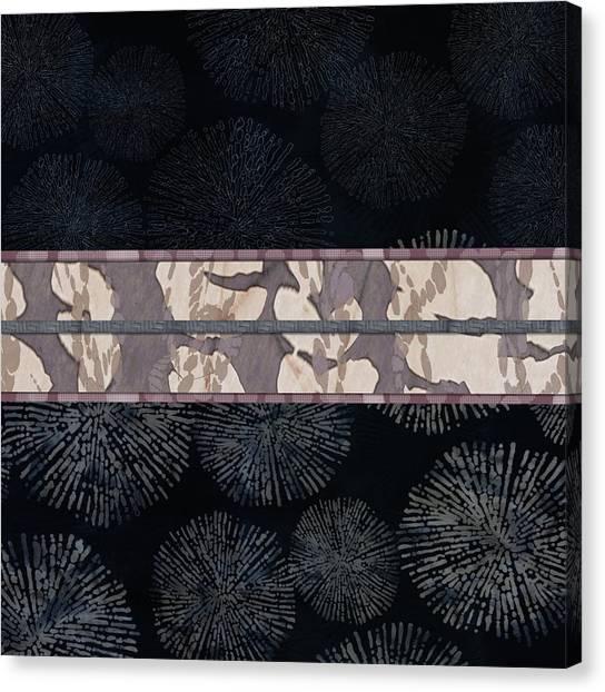 Sea Urchin Contrast Obi Print Canvas Print