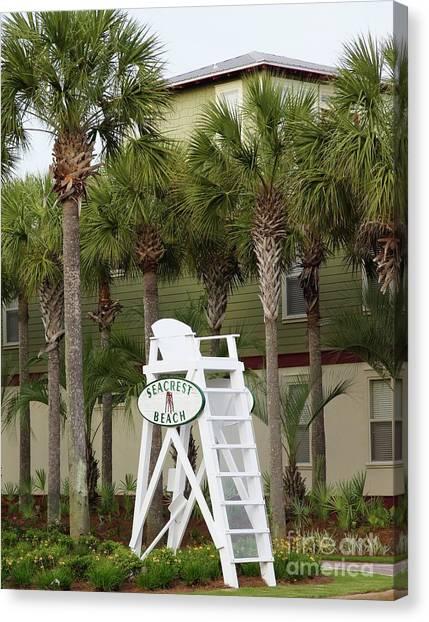 Canvas Print - Seacrest Lifeguard Chair by Megan Cohen