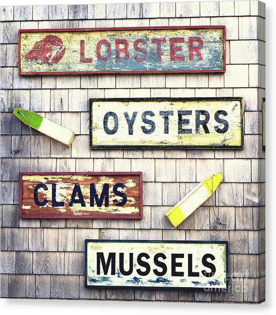 Fish Market Canvas Print - Seafood Signs by Jane Rix