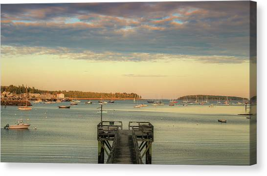 Canvas Print featuring the photograph Seal Harbor At Low Tide by Dan Sproul