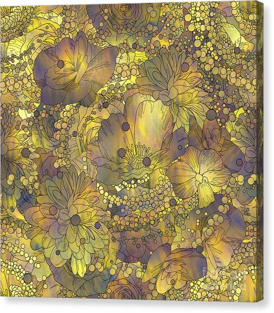 Texture Canvas Print - Seamless Pattern Of Colorful Flowers by Tithi Luadthong