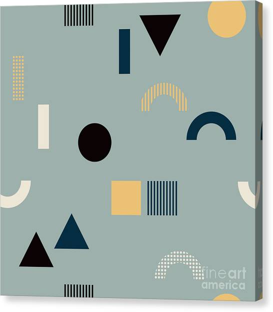 Form Canvas Print - Seamless Pattern With Geometrical by Iliveinoctober