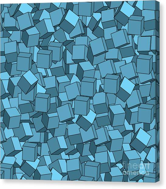 Block Canvas Print - Seamless Vector Abstract Texture by Chet
