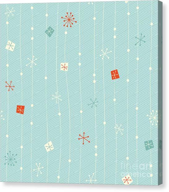 Decoration Canvas Print - Seamless Vintage Winter Pattern by Orangeberry