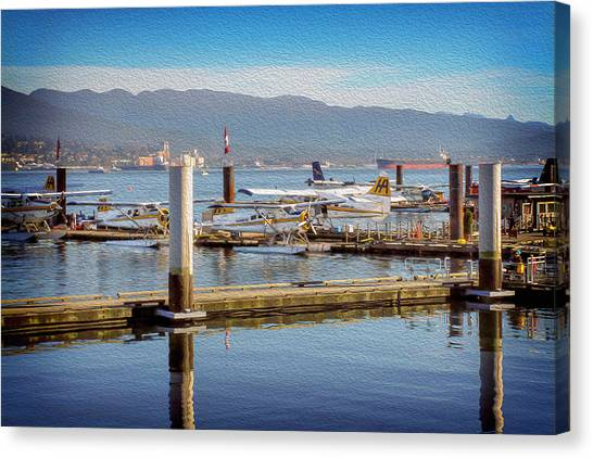 Cessnas Canvas Print - Seaplanes At Coal Harbour Vancouver Canada by Carol Japp