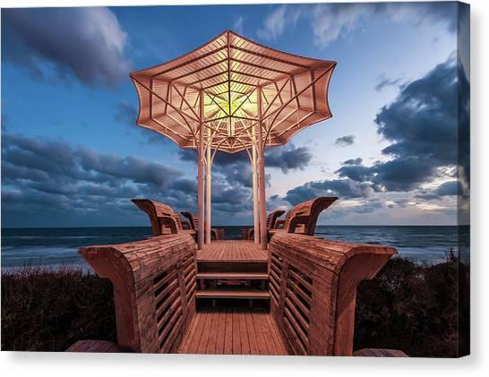 Seaside Pavilion On The Gulf Canvas Print