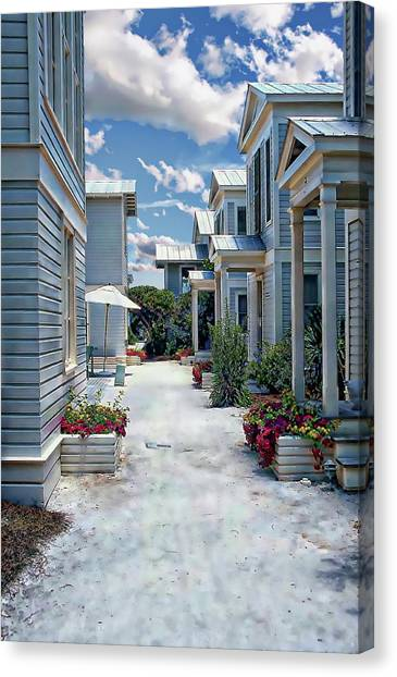 Canvas Print featuring the photograph Seaside Village by Anthony Dezenzio