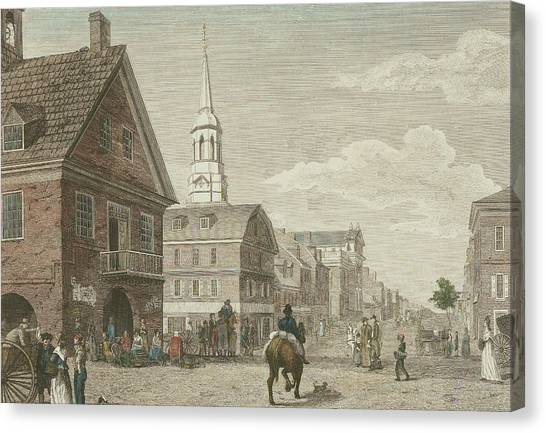 Second Street North From Market St. And Christ Church Canvas Print