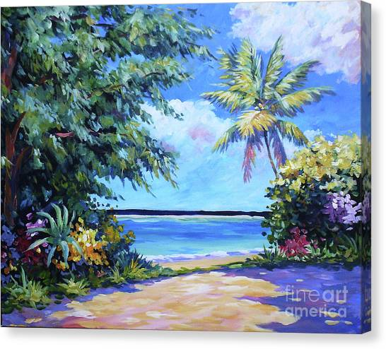 Rum Canvas Print - Secret Beach  by John Clark