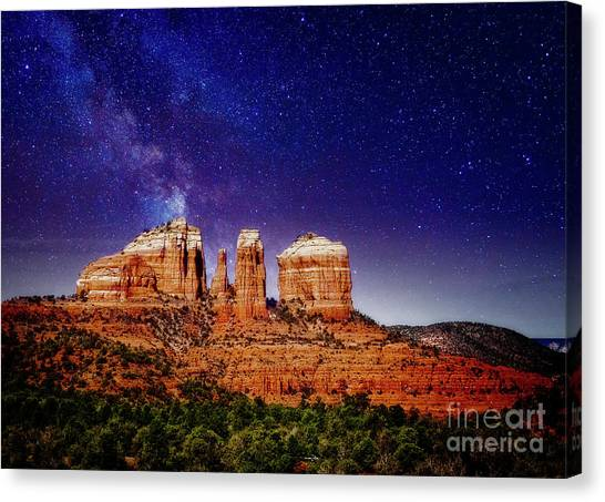 Sedona After Dark Canvas Print