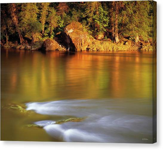 Selway River Canvas Print by Leland D Howard