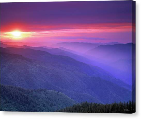 Selway Sunrise Canvas Print