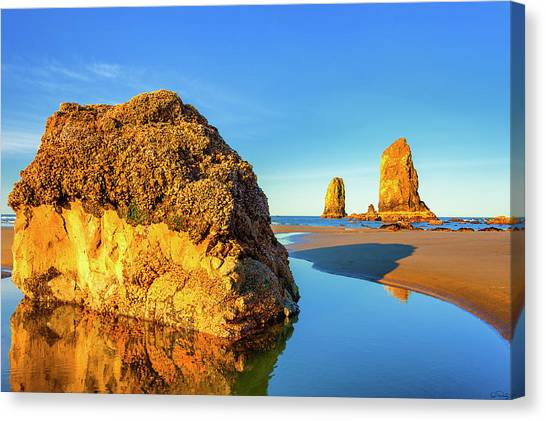 Canvas Print featuring the photograph Sentinels Of Land And Sea by Dee Browning