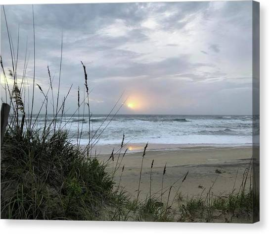 Canvas Print featuring the photograph Sept. 14, 2018 Sunrise  by Barbara Ann Bell