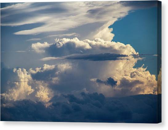 Canvas Print featuring the photograph September Storm Chasing 015 by NebraskaSC
