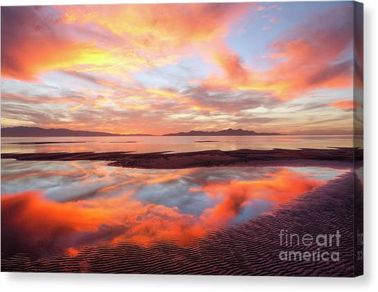 Canvas Print featuring the photograph September Sunset by Spencer Baugh