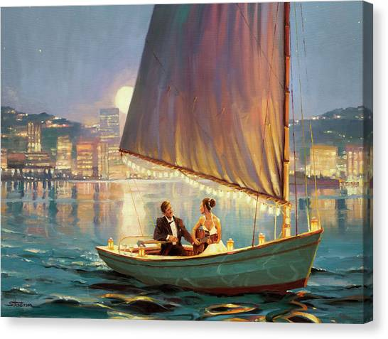 Night Lights Canvas Print - Serenade by Steve Henderson