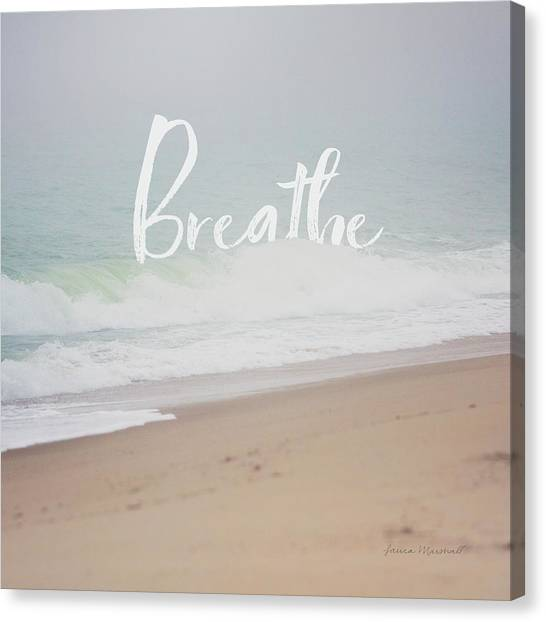 Breathe Canvas Print - Serene Sea I by Laura Marshall
