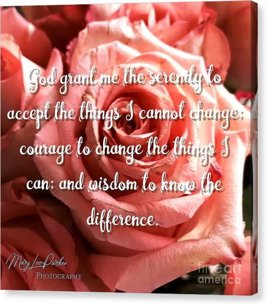 Serenity Prayer II Canvas Print
