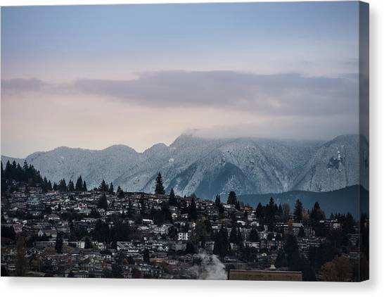 Canvas Print featuring the photograph Seymour Winterscape by Juan Contreras