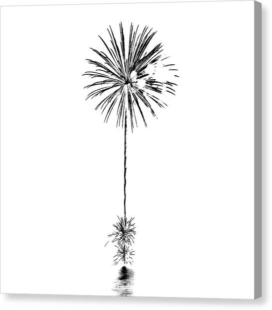 4th Of July Canvas Print - Shades Of Grey Collection Set 03 by Az Jackson