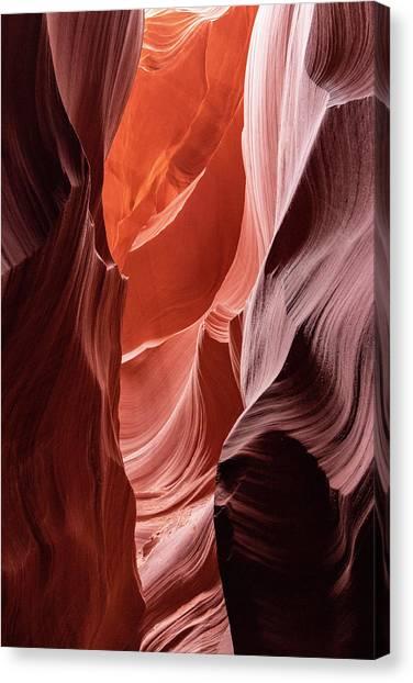Shades Of Orange, Lower Antelope Canyon, Az Canvas Print