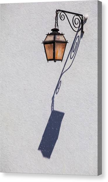 Shadow Lamp Canvas Print