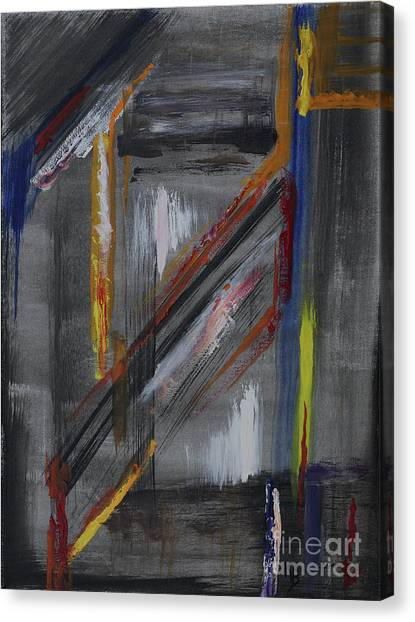 Canvas Print featuring the painting Shaft by Karen Fleschler