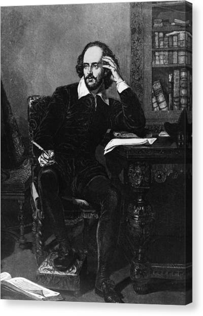 Shakespeare Canvas Print by Hulton Archive