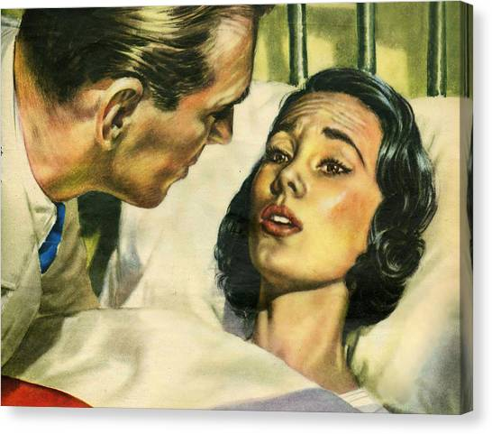 Sick Canvas Print - She Is Very Sick by Long Shot