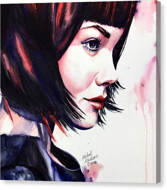 Canvas Print featuring the painting She Knew by Michal Madison
