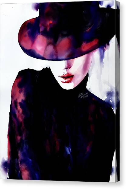 Canvas Print featuring the painting She Remembered by Michal Madison