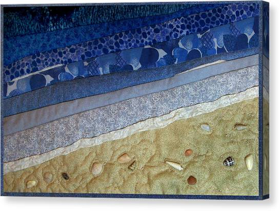 She Sews Seashells On The Seashore Canvas Print
