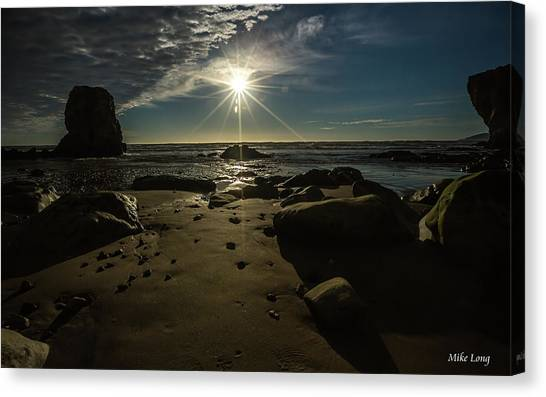 Shell Beach Sunburst Canvas Print