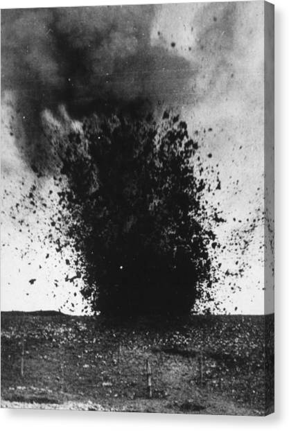 Shell Burst Canvas Print by Hulton Archive