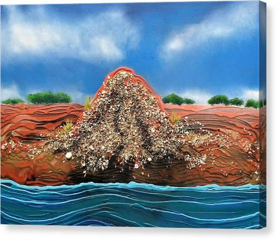 Shell Mound Canvas Print