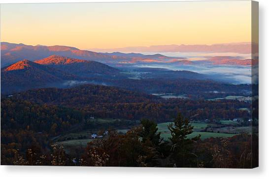 Canvas Print featuring the photograph Shenandoah Mountains by Candice Trimble
