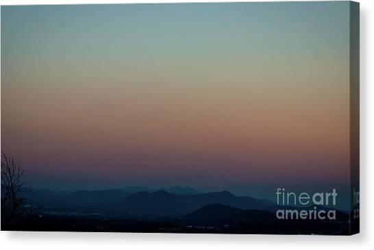 Sherbert Sunset Over The Blue Ridge Mountains Canvas Print