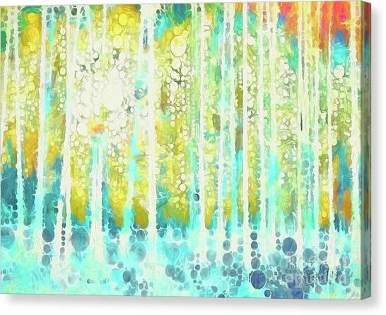 Woodland Canvas Print - Sherwood Pines Abstract Art by Amanda Lakey