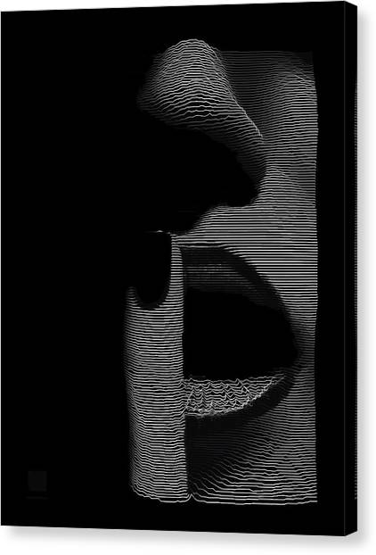 Canvas Print featuring the digital art Shhh by ISAW Company