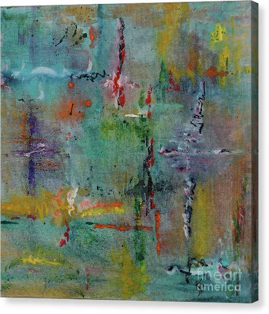Canvas Print featuring the painting Shimmering by Karen Fleschler