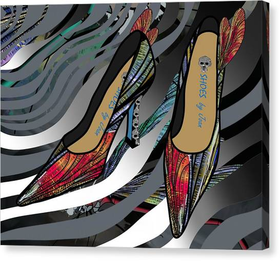 Shoes By Joan - Dragon Fly Wing Pumps Canvas Print