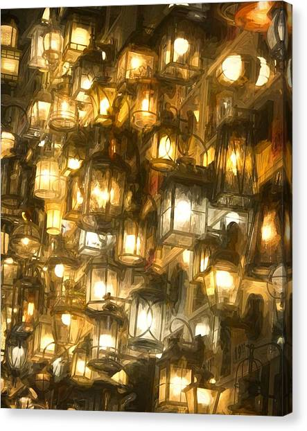 Shopping For Lighting Canvas Print