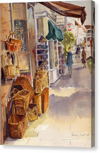 Shopping In Tenterden England Canvas Print