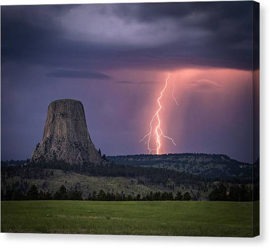 Showers And Lightning Canvas Print