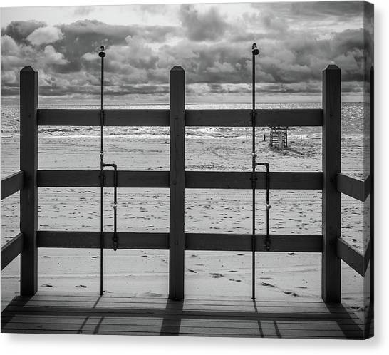 Canvas Print featuring the photograph Showers by Steve Stanger