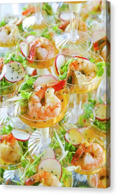 Shrimp Cocktails, Lake Tahoe, Usa Canvas Print