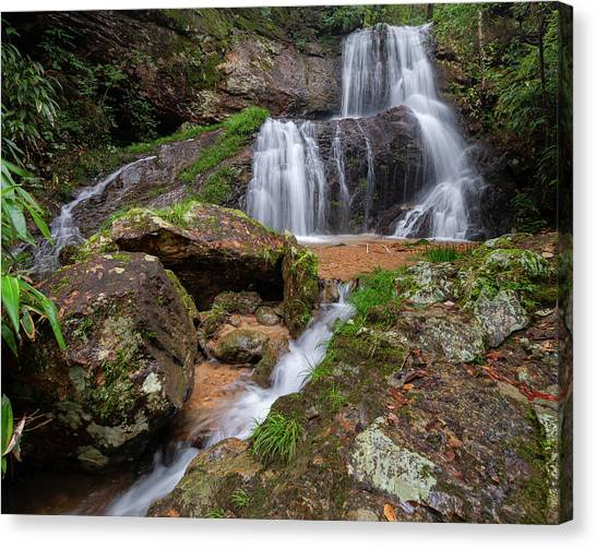 Canvas Print featuring the photograph Shu Nu Waterfall 8x10 Horizontal by William Dickman