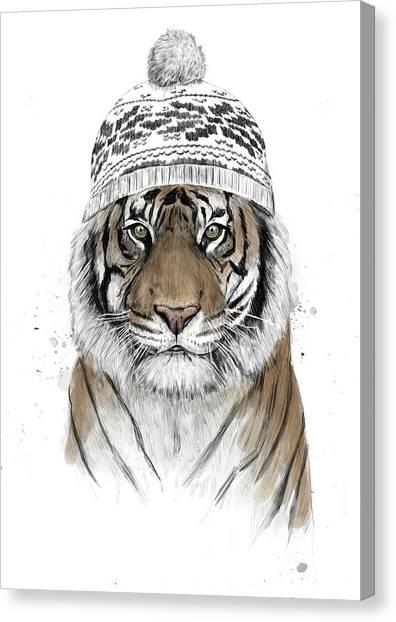 Tigers Canvas Print - Siberian Tiger by Balazs Solti