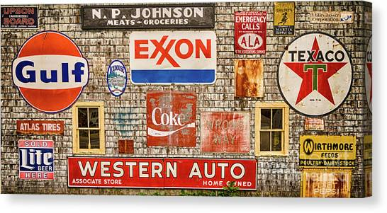 Placard Canvas Print - Signage I by DiFigiano Photography